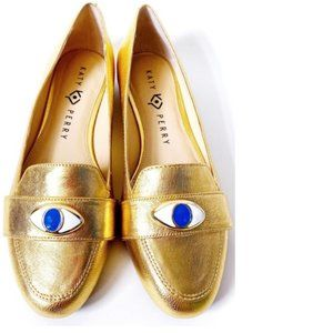 Katy Perry Metallic Loafer Sz 6